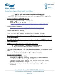APPLICATION REQUIREMENTS FOR NPDES PERMITS (see 40 ...