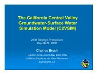 The California Central Valley Groundwater-Surface Water ...