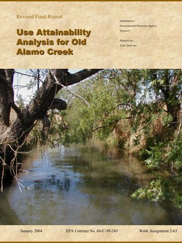 Use Attainability Analysis for Old Alamo Creek - State Water ...