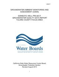 domestic well project groundwater quality data report tulare county ...
