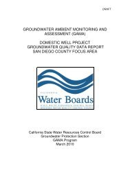 groundwater ambient monitoring and assessment (gama)