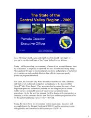 The State of the Central Valley Region - State Water Resources ...