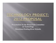 Technology Project 2012 Proposal - Shoreham-Wading River ...