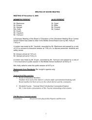 minutes of board meeting - Shoreham-Wading River Central School ...