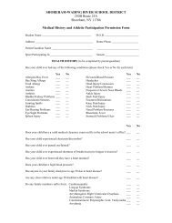 Medical History/Athletic Participation Permission Form - Shoreham ...