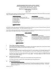 Minutes - Shoreham-Wading River Central School District