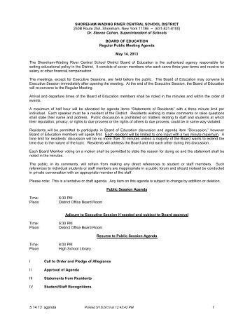 5.14.13 agenda 1 SHOREHAM-WADING RIVER CENTRAL ...