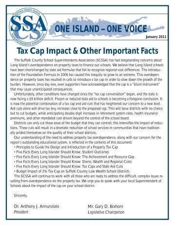 Tax Cap Impact - Suffolk County School Superintendent Association