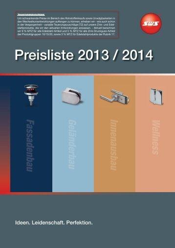 Preisliste 2013 / 2014