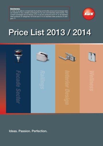 Price List 2013 / 2014