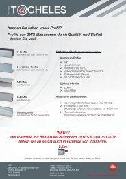 NEU! Profile in Fixlängen à 2.500 mm - SWS Gesellschaft für ...