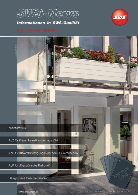 SWS-News_01_2010 - SWS Gesellschaft für Glasbaubeschläge mbH