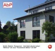 """""""Bellevue"""" der neue """"französische Balkon"""" mit AbP - SWS ..."""
