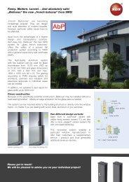 Download Bellevue flyer - SWS Gesellschaft für Glasbaubeschläge ...