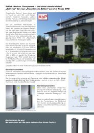 Französischer Balkon - SWS Gesellschaft für Glasbaubeschläge mbH