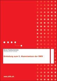 sws.bfh.ch Einladung zum 2. Alumnianlass der SWS - Berner ...