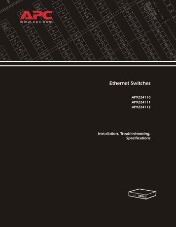 Ethernet Switches - Installation, Troubleshooting ... - SWS a.s.