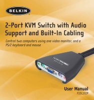 2-Port KVM Switch with Audio Support and Built-In Cabling - Belkin