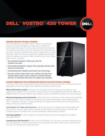 Dell™ Vostro™ 420 tower - Tradedoubler
