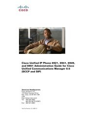 Cisco Unified IP Phone 6921, 6941, 6945, and 6961 ... - SWS a.s.