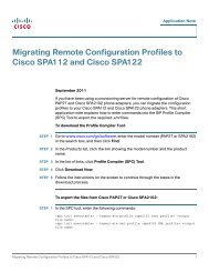 Migrating Remote Configuration Profiles to Cisco ... - SWS a.s.
