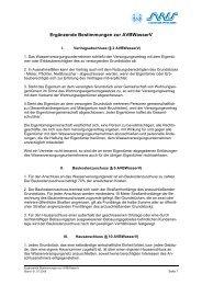 Ergänzende Bestimmungen zur AVBWasserV - Stadtwerke Speyer ...