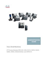 Cisco Small Business SPA 300 Series, SPA 500 Series ... - SWS a.s.
