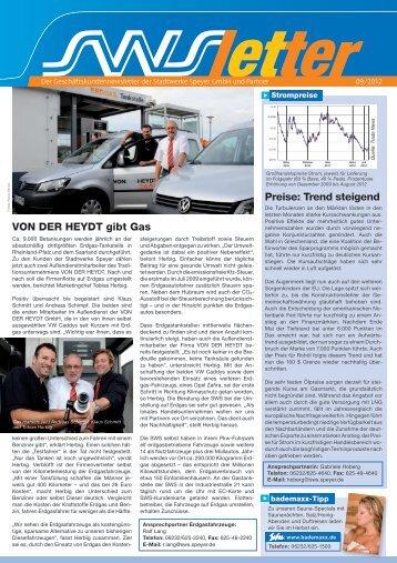 Preise: Trend steigend VON DER HEYDT gibt Gas - Stadtwerke ...