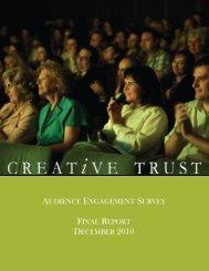 AUDIENCE ENGAGEMENT SURVEY FINAL ... - Creative Trust