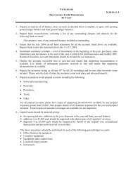 Audit Preparation Tafelmusik - Creative Trust