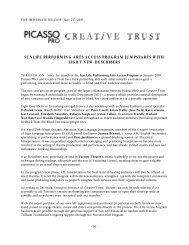 sunlife performing arts access program jumpstarts ... - Creative Trust