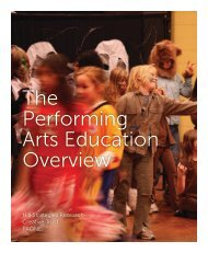 The Performing Arts Education Overview - Creative Trust
