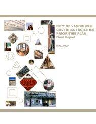 City of Vancouver Cultural Facilities Priorities Plan, Final Report