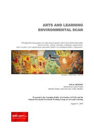ARTS AND LEARNING ENVIRONMENTAL SCAN - Creative Trust