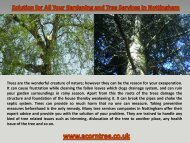 Solution for All Your Gardening and Tree Services in Nottingham