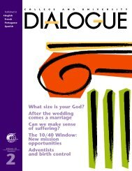 2 - College and University Dialogue - General Conference of ...