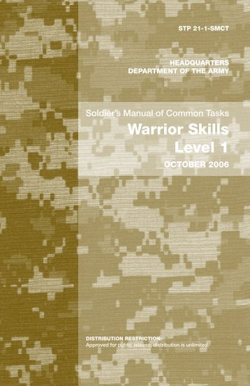 Soldier's Manual Of Common Tasks Level 1 - WordPress.com