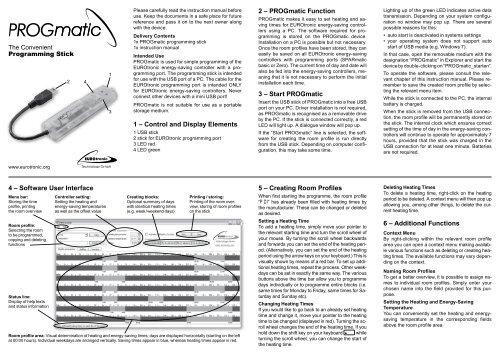 EUROtronic PROGmatic-Programmierstick für SPARmatic comet