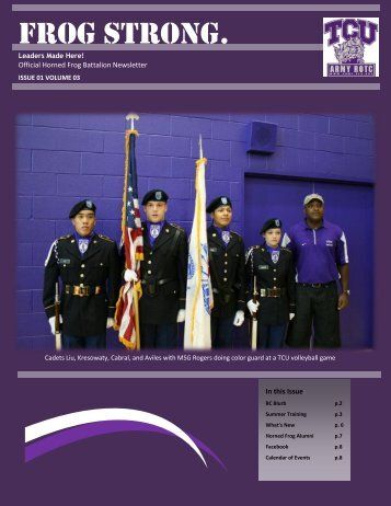Fall 2012 - Army ROTC - Texas Christian University