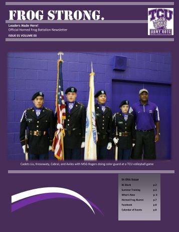 Fall 2012 - Army ROTC - Texas Christian University