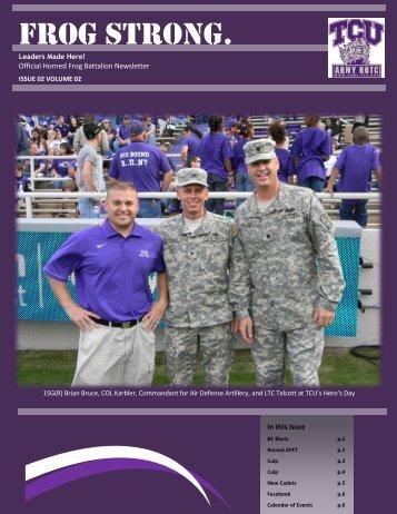 Winter 2012 - Army ROTC - Texas Christian University