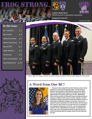 Spring 2013 - Army ROTC
