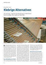 Klebrige Alternativen - Boraxfreier Leim