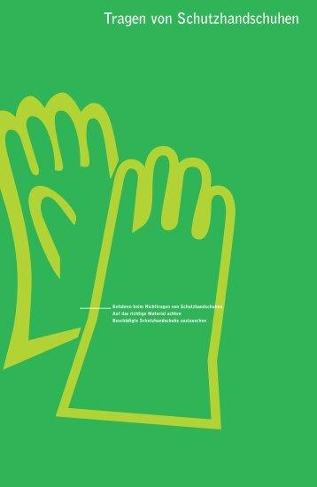 Tragen von Schutzhandschuhen - Die BG ETEM