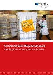 Sicherheit beim Wäschetransport - Die BG ETEM