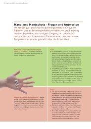 Hand- und Hautschutz – Fragen und Antworten