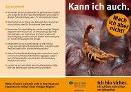 """Infoplakat """"Hautschutz"""""""