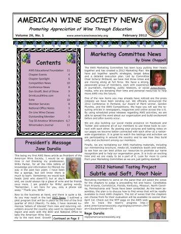 American Wine Society News February 2012 (.pdf 1.3MB)
