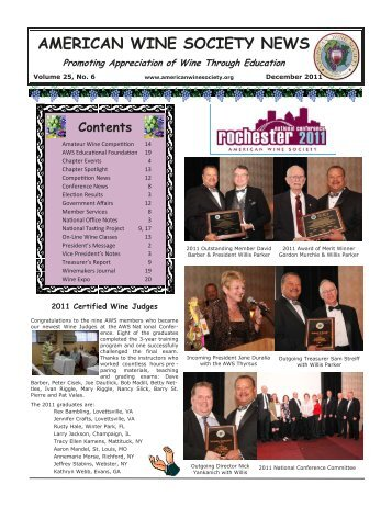 american wine society news - East Las Vegas Valley Chapter of the ...