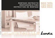 basic tafel tisch basic table basic montage-instructie ... - Lundia